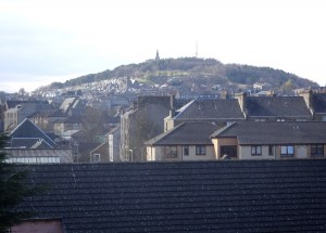 (Telephoto) view from kitchen towards the Law