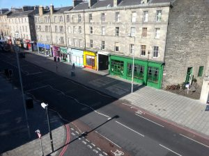 View up Leith Walk from Bedroom Window